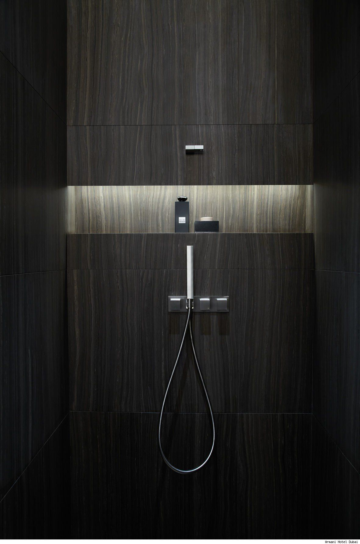 Armani Casa Shower Just Bathrooms Bathroom Niche Armani Hotel Armani Hotel Modern Shower Design Armani Hotel Dubai
