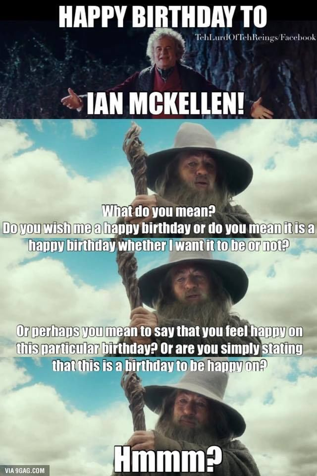 2f02e5ec57619a22754e1bd2e741836a happy birthday, ian happy birthday, hobbit and lotr