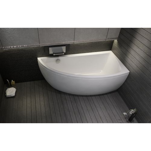 Offset Corner Bath *NANO* SPACE SAVER 1500 x 750mm with Front ...