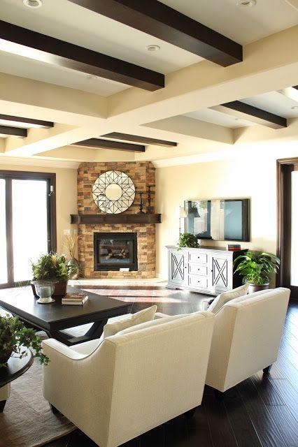 Bdg Style Staging Shot Corner Fireplace Living Room Corner Fireplace Layout Home