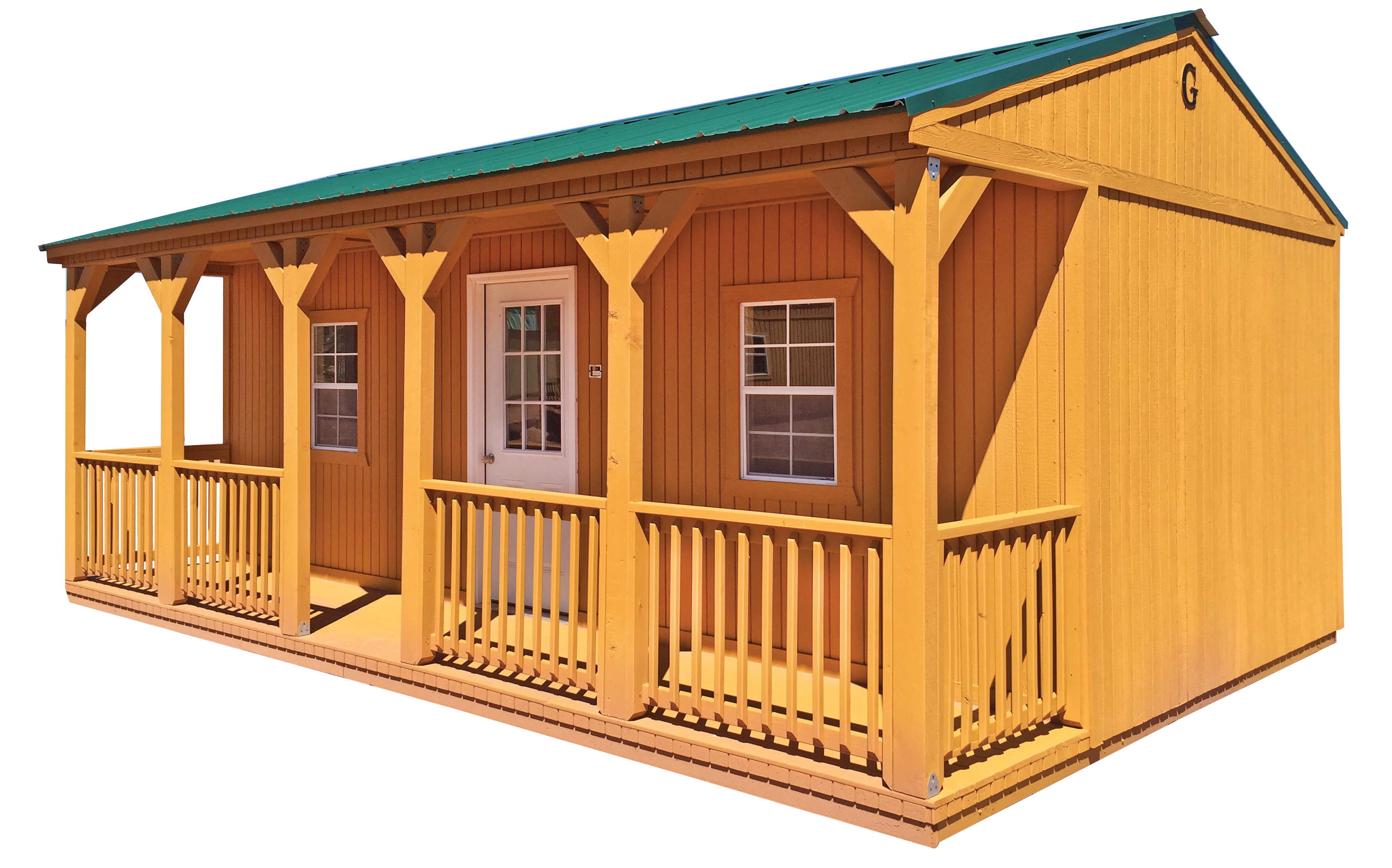The Side Porch Cabin In Our West Division Portable Buildings Side Porch House