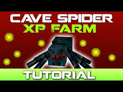 Minecraft Cave Spider XP Farm Tutorial [Easy to Build