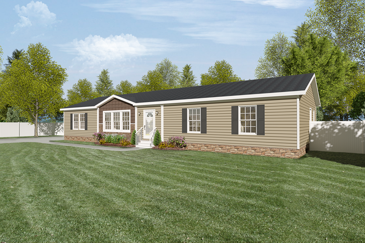 Want A Higher Mobile Home Roof Pitch Platinum Model Has Great Exterior Clayton Homes Modular Homes For Sale Mobile Home Roof