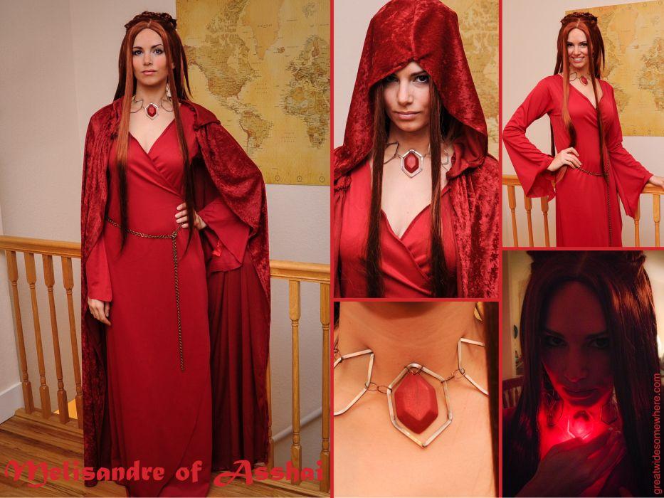 Bau- & Konstruktionsspielzeug-Sets Melisandre Fire Priestess Lord of Light Game of Thrones custom Steine