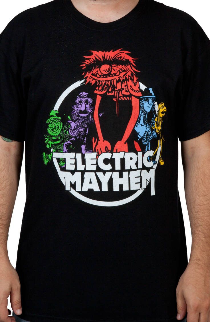 601f0a3be97d This Muppets shirt shows the members of the Muppet Show house band, The  Electric Mayhem. This shirt features keyboard player/singer Dr. Teeth, ...