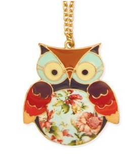 Cutest Owl Necklace! Only $24! https://www.shoppop.com/jewelry/necklaces/owl-flower-necklace/