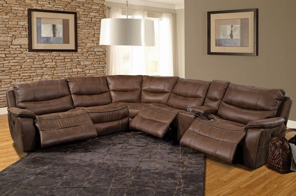 Remus Stone Sectional Reclining Sectional Parker House Furniture
