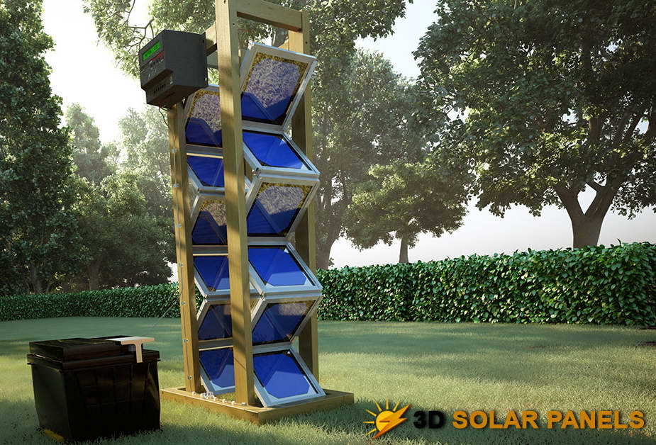 How To Create A Solar Panel Backyard Revolution Diy 3d Solar Panels Step By Step Video Guide Solar Panels Solar Projects Solar Energy Panels