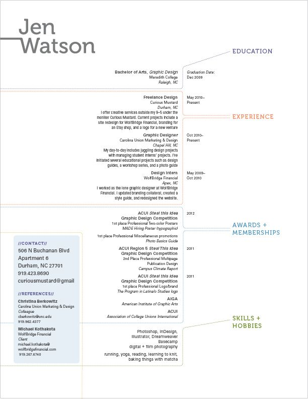simple minimalist cv jen watson - Google Search CV Design - google is my resume