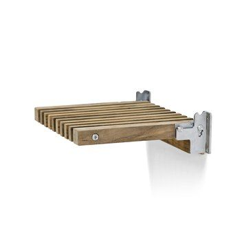 'Cutter' series by Skagerak, via Architonic.com. We love this multifunctional bathroom series that uses wood and metal to create multifunctional fixtures and furniture.