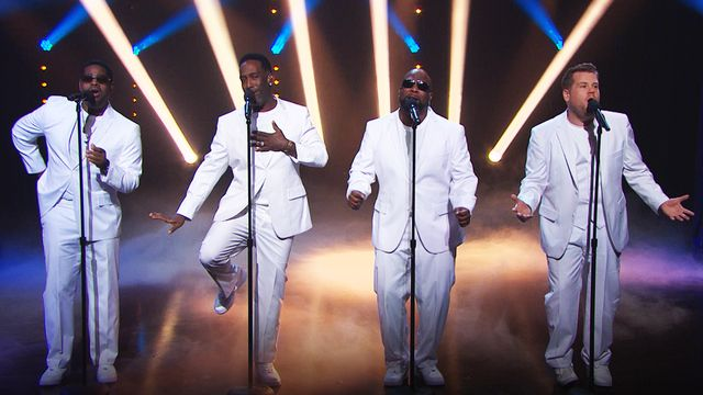 "James Corden wraps up his Super Bowl episode with an original song about the big game set to Boyz II Men's ""End of the Road"" featuring a surprise appearance from the group."