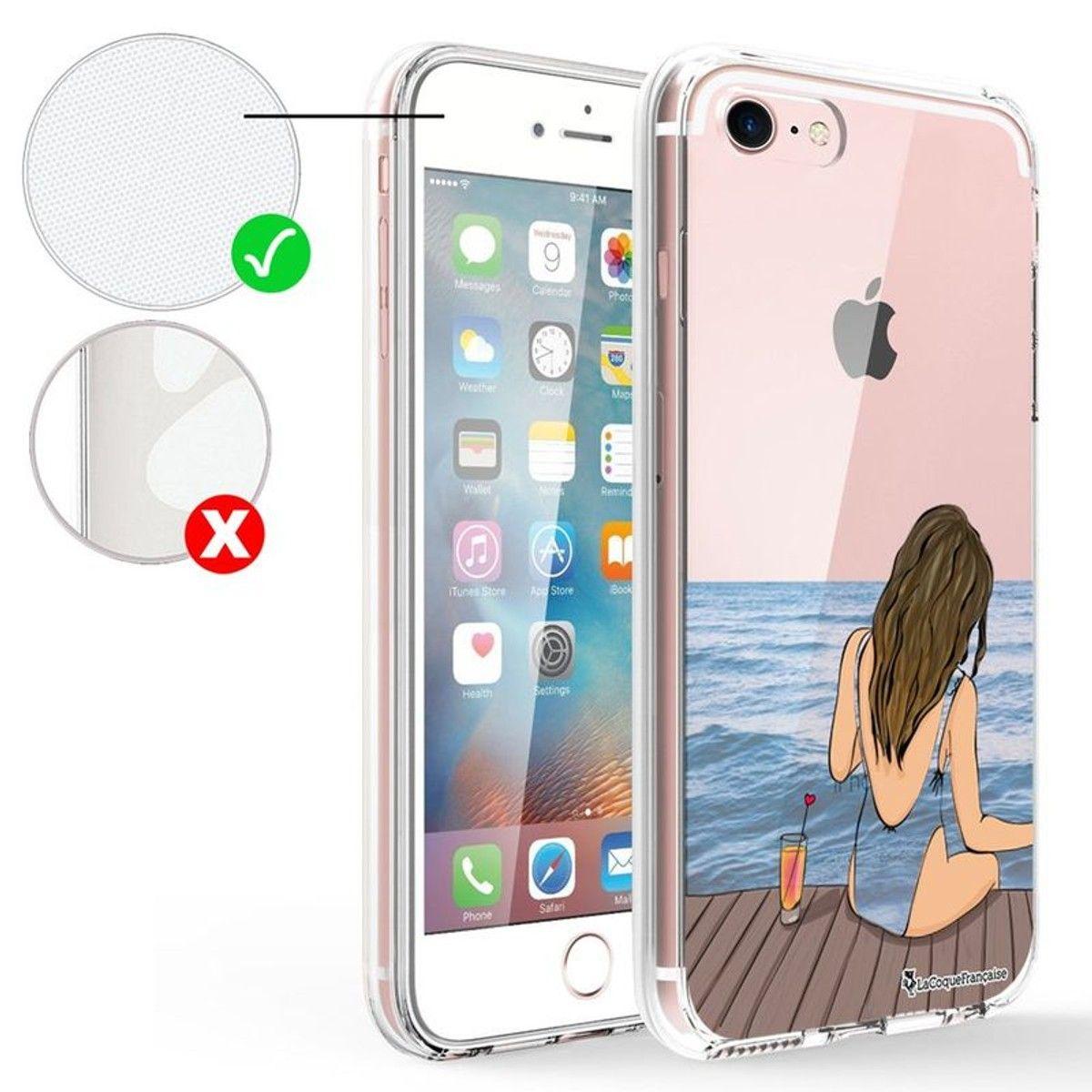 coque transparente iphone 7 bord noir
