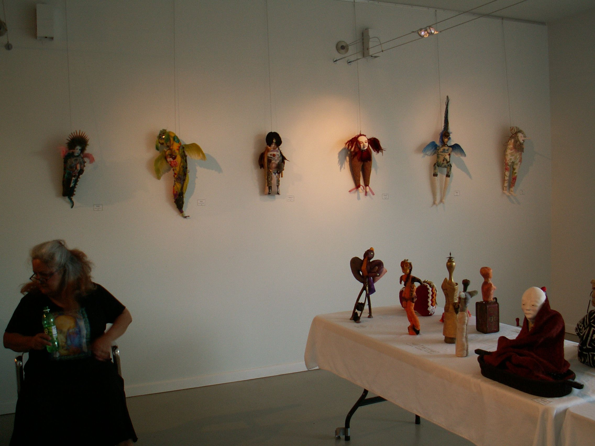 the show with Pameal Hastings at the Blue Star Art Gallery