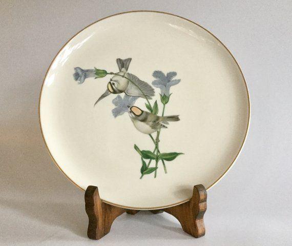 American Song Bird Plate, Syracuse China, Athos Menaboni