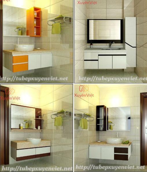 Mẫu tủ lavabo nhựa đẹp nhất cho phòng tắm hiện đại