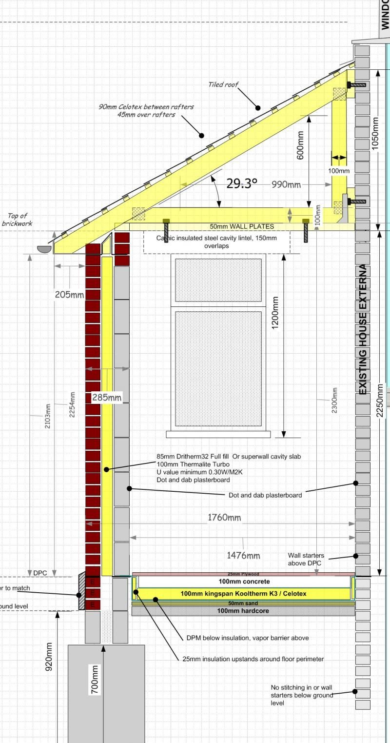 Porch Cross Section Construction Details Cross Section