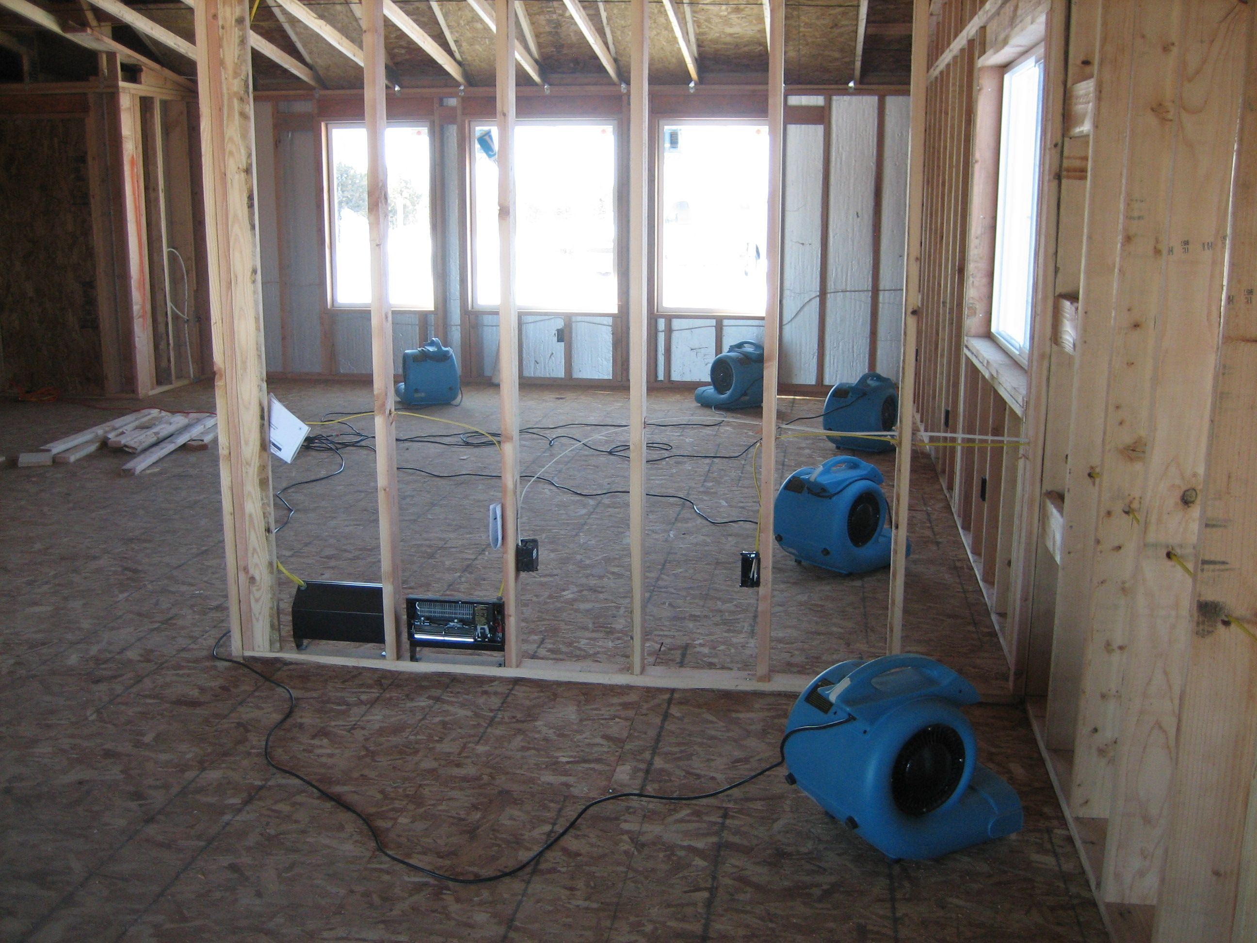 Airdryers help speed along the water damage restoration process when