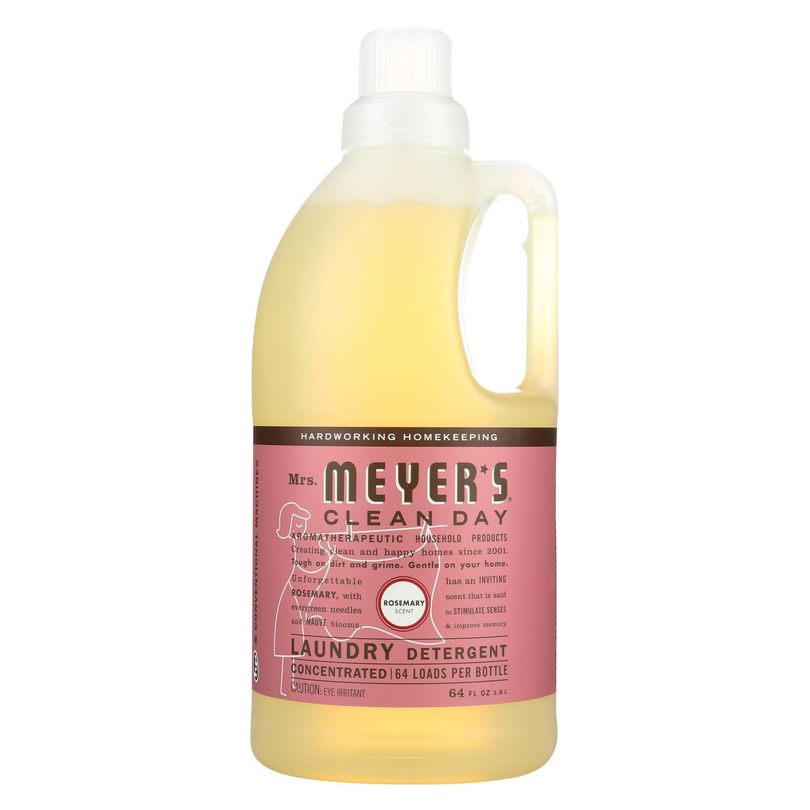 Mrs Meyers Clean Day Laundry Detergent Rosemary Case Of 6