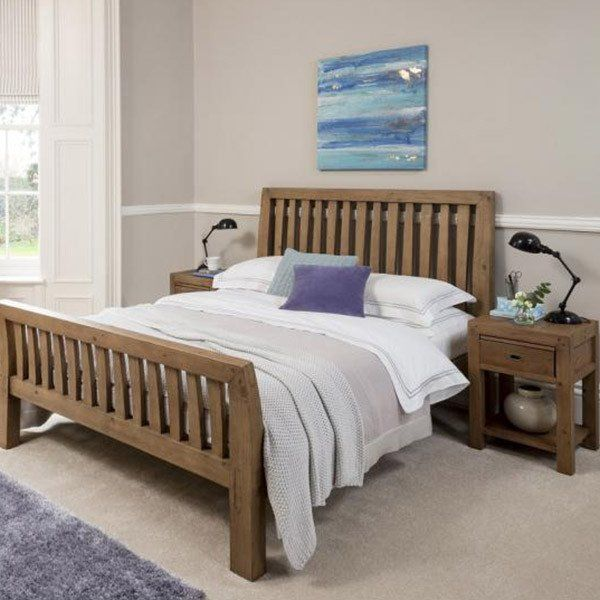 modish furniture. Cotswold Reclaimed Wood Bed In Bedroom - Modish Living Furniture A