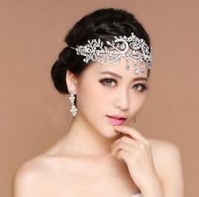 Bridal Frontlet Artificial Diamond Crown Headwear Women's Wedding accessories : Want more? https://bitly.com/showmemorepls