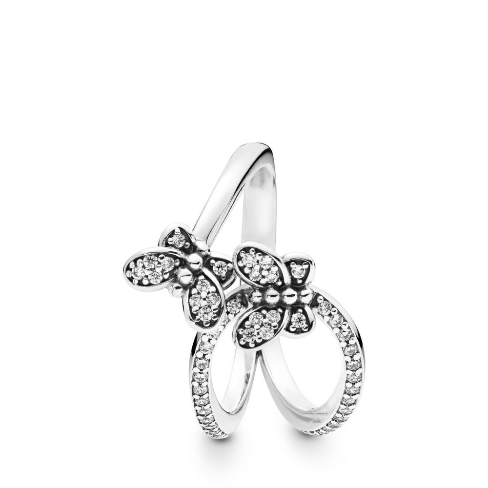 Free Post plated NWT Sizes 6,7 CZ stones Butterfly 925 Sterling Silver ring