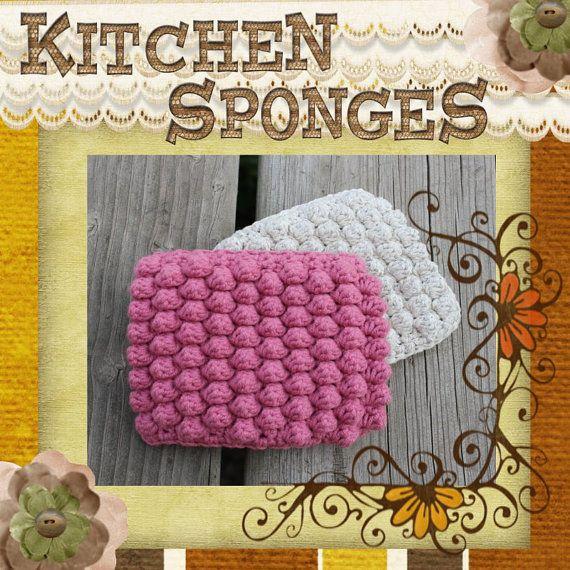 Ktichen Sponges PDF Crochet Pattern by HootieandTootie on Etsy