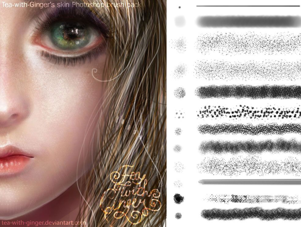 Tea-with-Ginger's skin Photoshop brush pack by Tea-with-Ginger ...