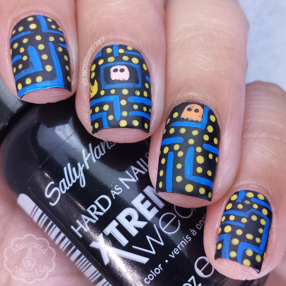 40 Great Nail Art Ideas - Geek | Gamer Nail Art | Pinterest