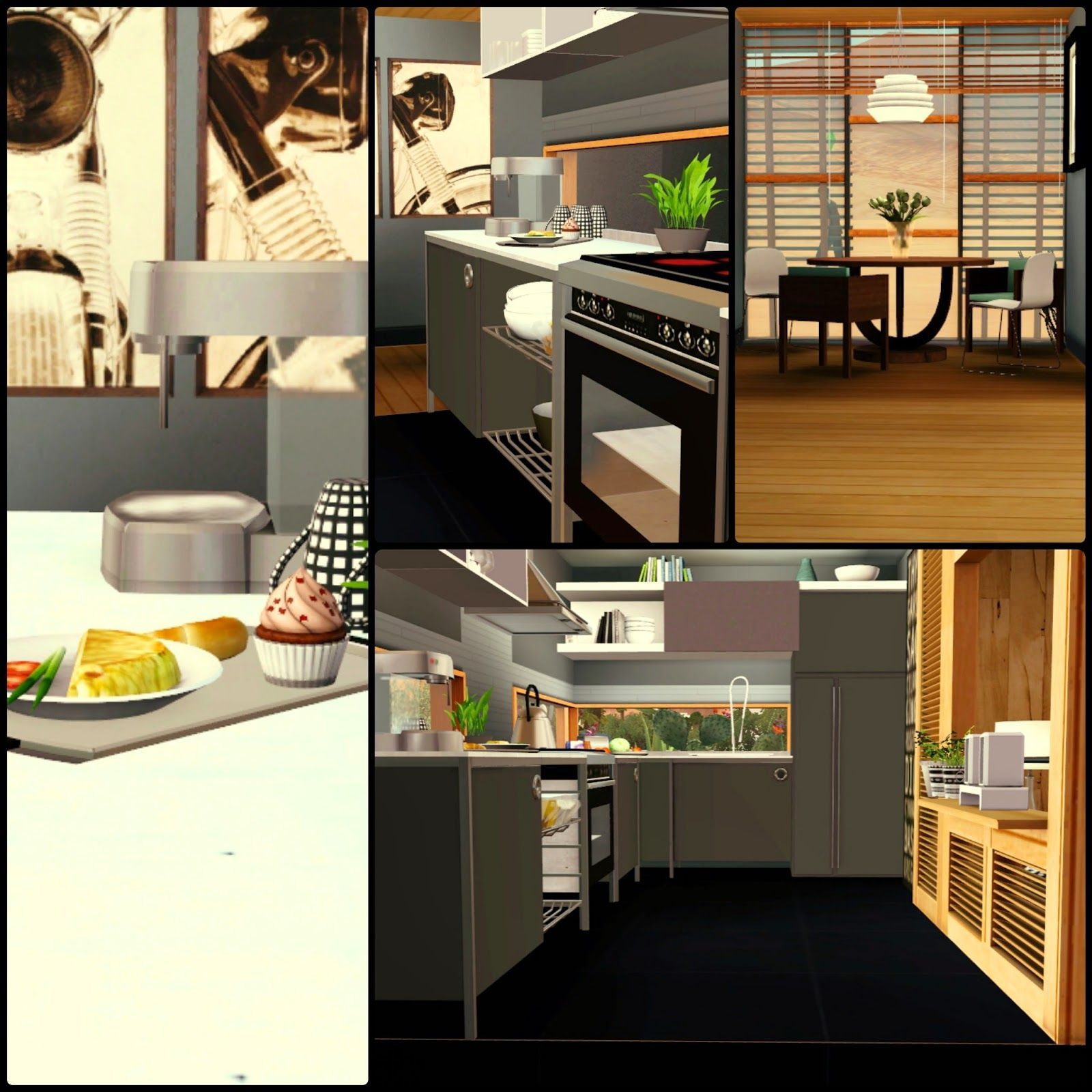 Agave Simberry House / Kitchen / Sims 3 / Download