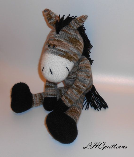 Horse Knitted Toy Pattern Knitted Horse Pdf Tutorial Diy Horse