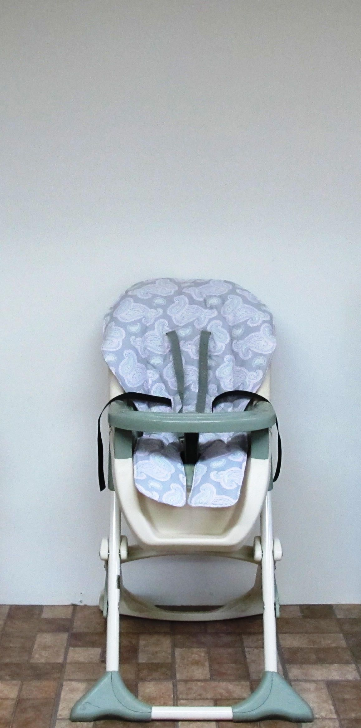 Graco Pink Paisley On Gray Highchair Replacement Cover Baby