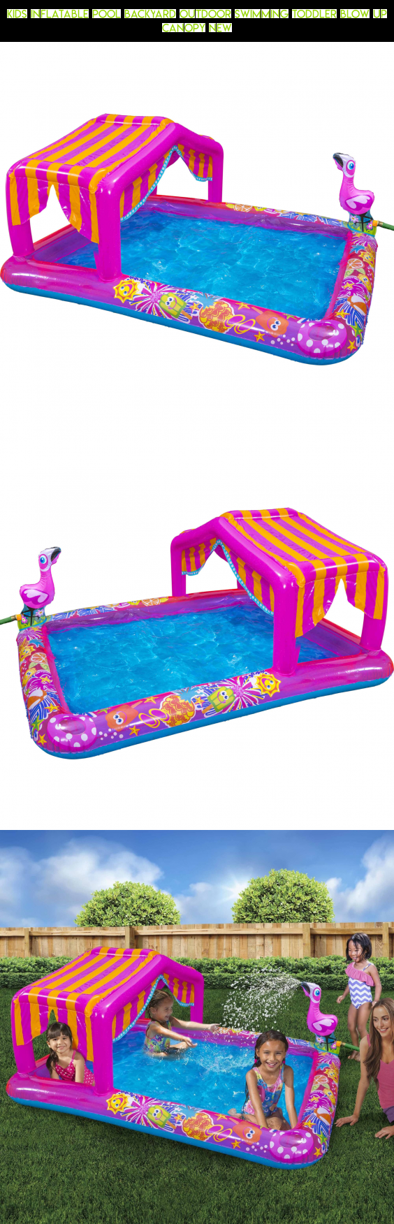 Kids Inflatable Pool Backyard Outdoor Swimming Toddler Blow Up Canopy NEW #tech #gadgets # & Kids Inflatable Pool Backyard Outdoor Swimming Toddler Blow Up ...