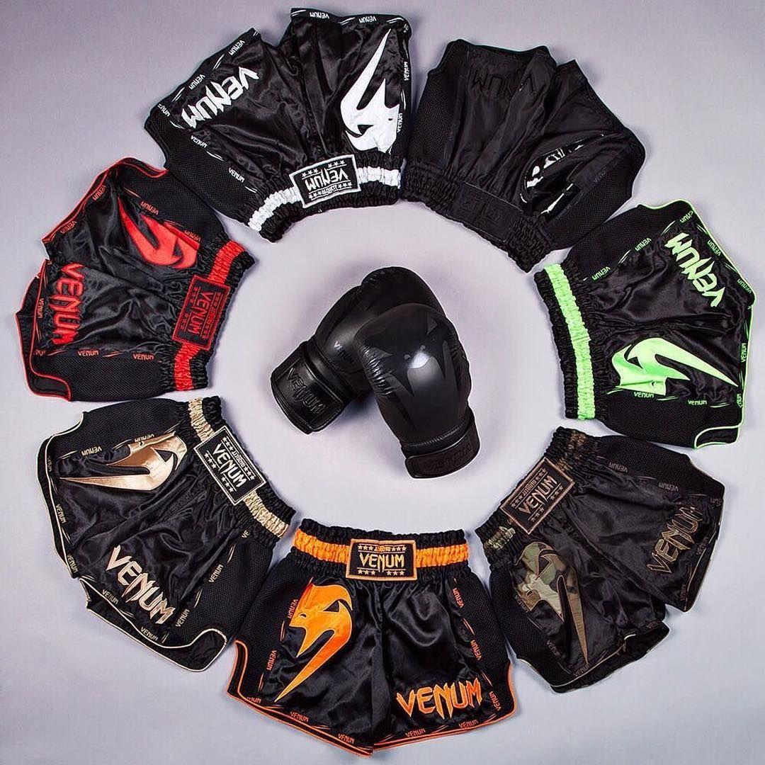 Black//White Venum Mens Giant Muay Thai Shorts