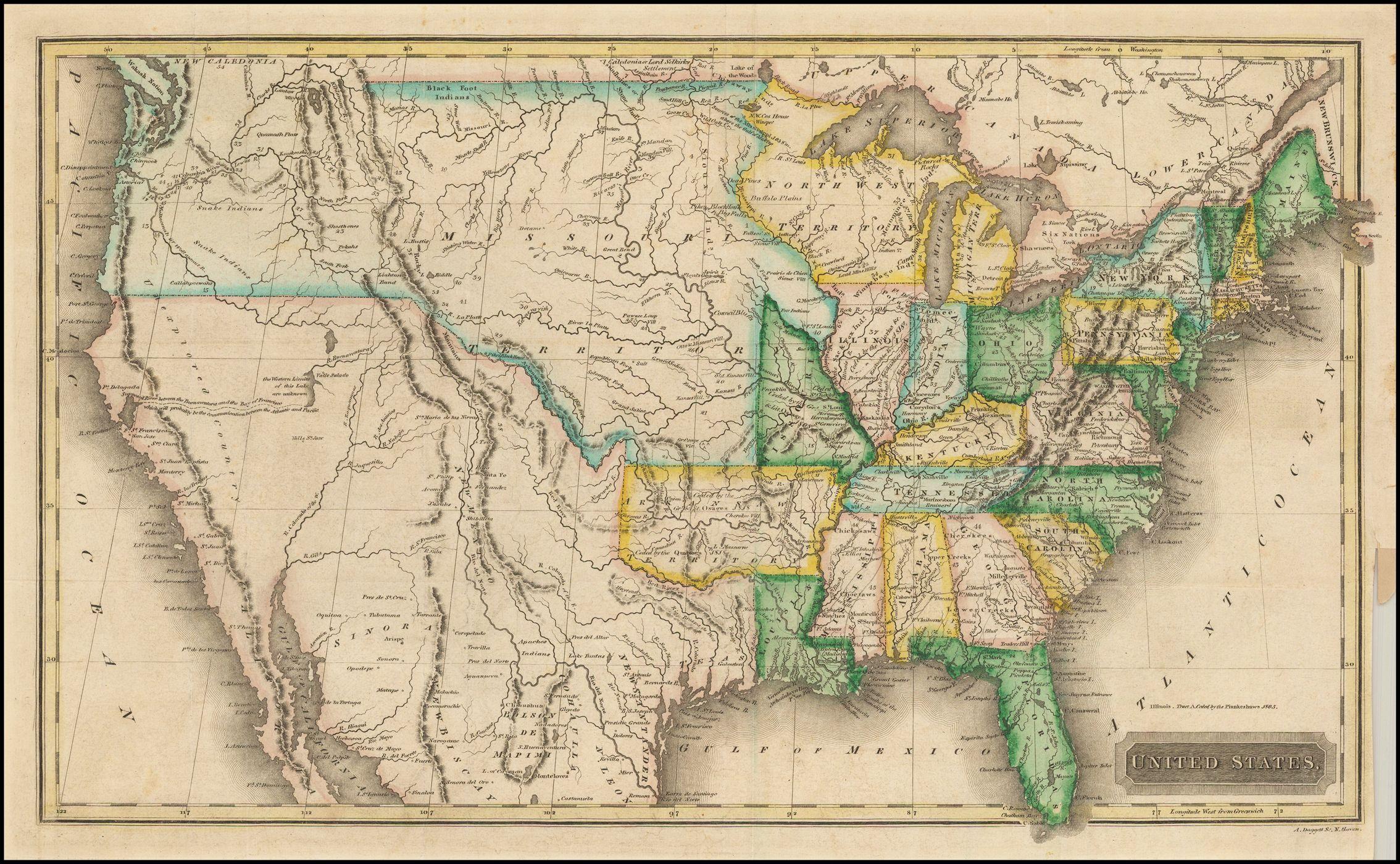 Map Of America 1820.United States Territory 1820 Map Usa America Interesting