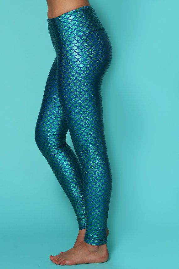 809ee45fd9905 Yoga pants, mermaid leggings, colorful leggings, printed leggings ...
