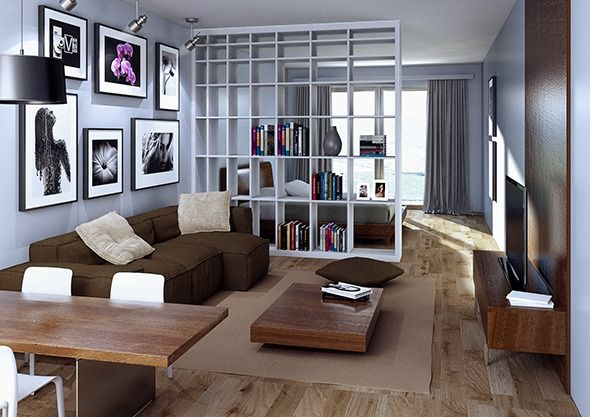 The scene contains an interior apartment for cinema 4d and for Living room cinema 4d