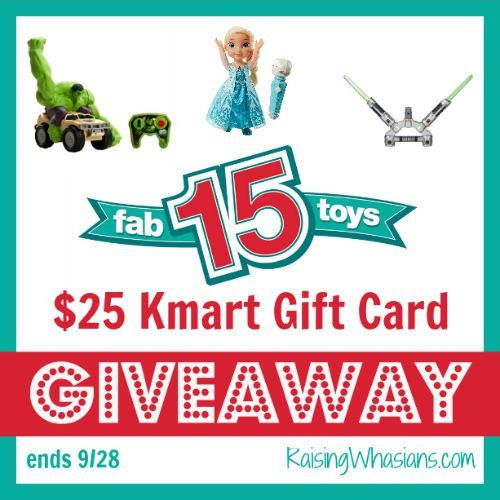 The Kmart Fab 15 Holiday Toys List is here! $25 Kmart Gift Card #Giveaway
