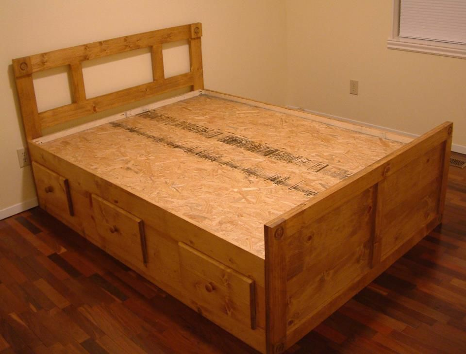 Full Size Captains Bed With 6 Under Storage Drawers Captains Bed Dresser Bed Bed Frame With Storage