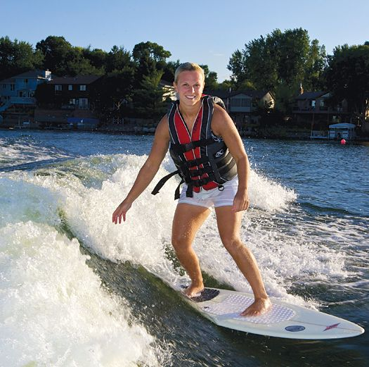 After each of her three Olympic runs, Darwitz has rewarded herself for the years of hard work and sacrifice that are associated with being a member of the U.S. Women's Olympic Team. First it was a jet ski, then a Springer Spaniel named Oakley, and finally the boat of her dreams.