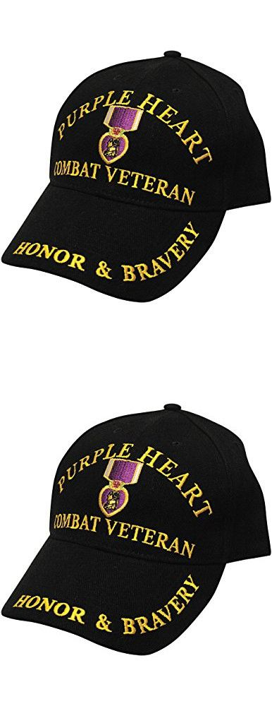 825bfb13174 Purple Heart Combat Veteran Embroidered Cap