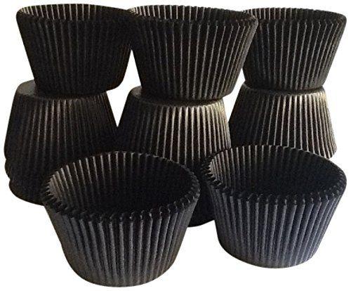 Goldas Kitchen 100 Count Baking Cups Standard Sized Black Oasis Supply VK394-100