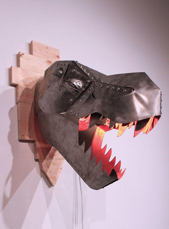 T Rex Metal Wall Sconce Modern Lamps Diy Robot