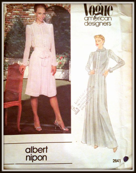 Vogue 2641 American Designer Albert Nipon 1970\'s 14 Or 16 | Sewing ...