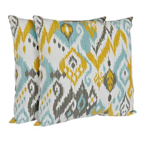 Best Blue And Yellow Outdoor Accent Pillows Set Of 2 Outdoor 400 x 300