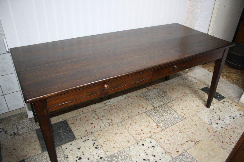 Antiker Esstisch Tisch Klostertisch Eiche Mschublade 1880 Länge