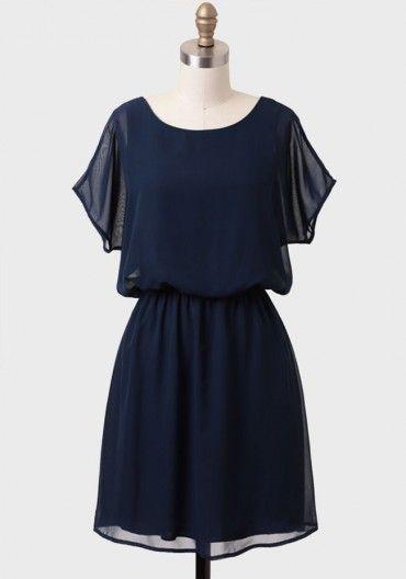 Bow Back Vintage Dress