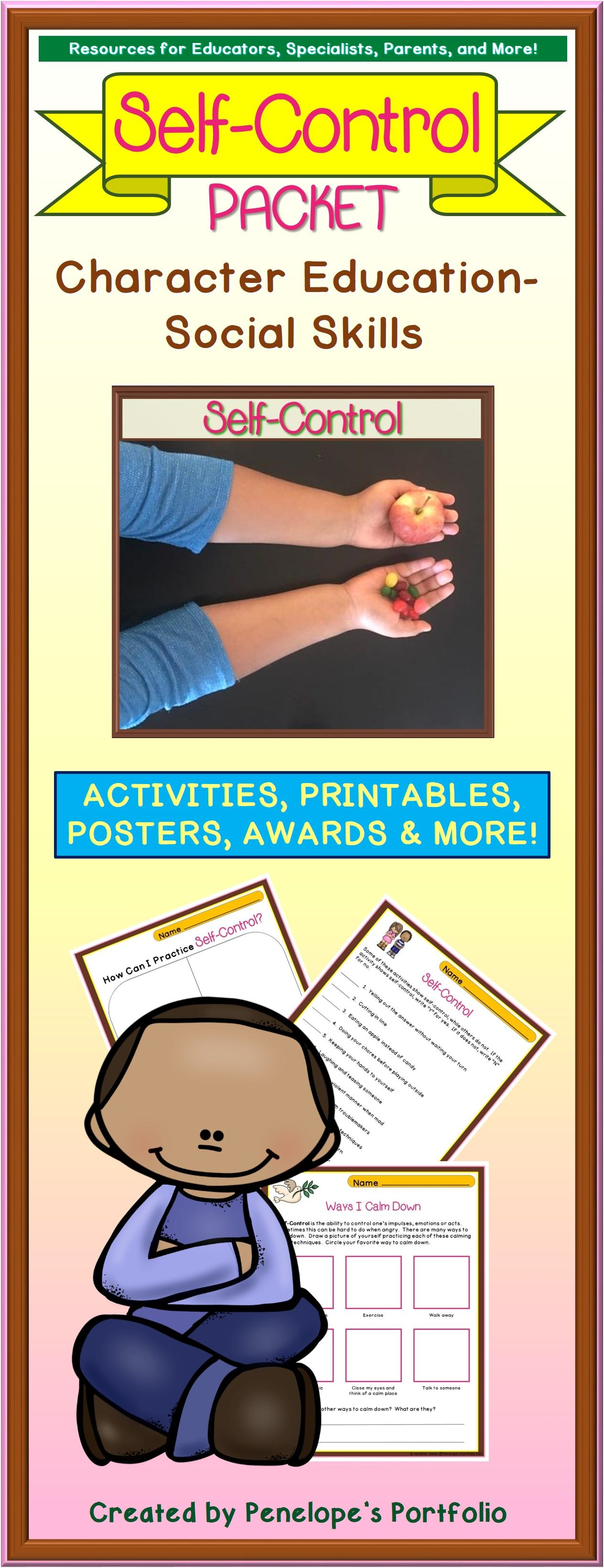 Self Control Activities And Lessons