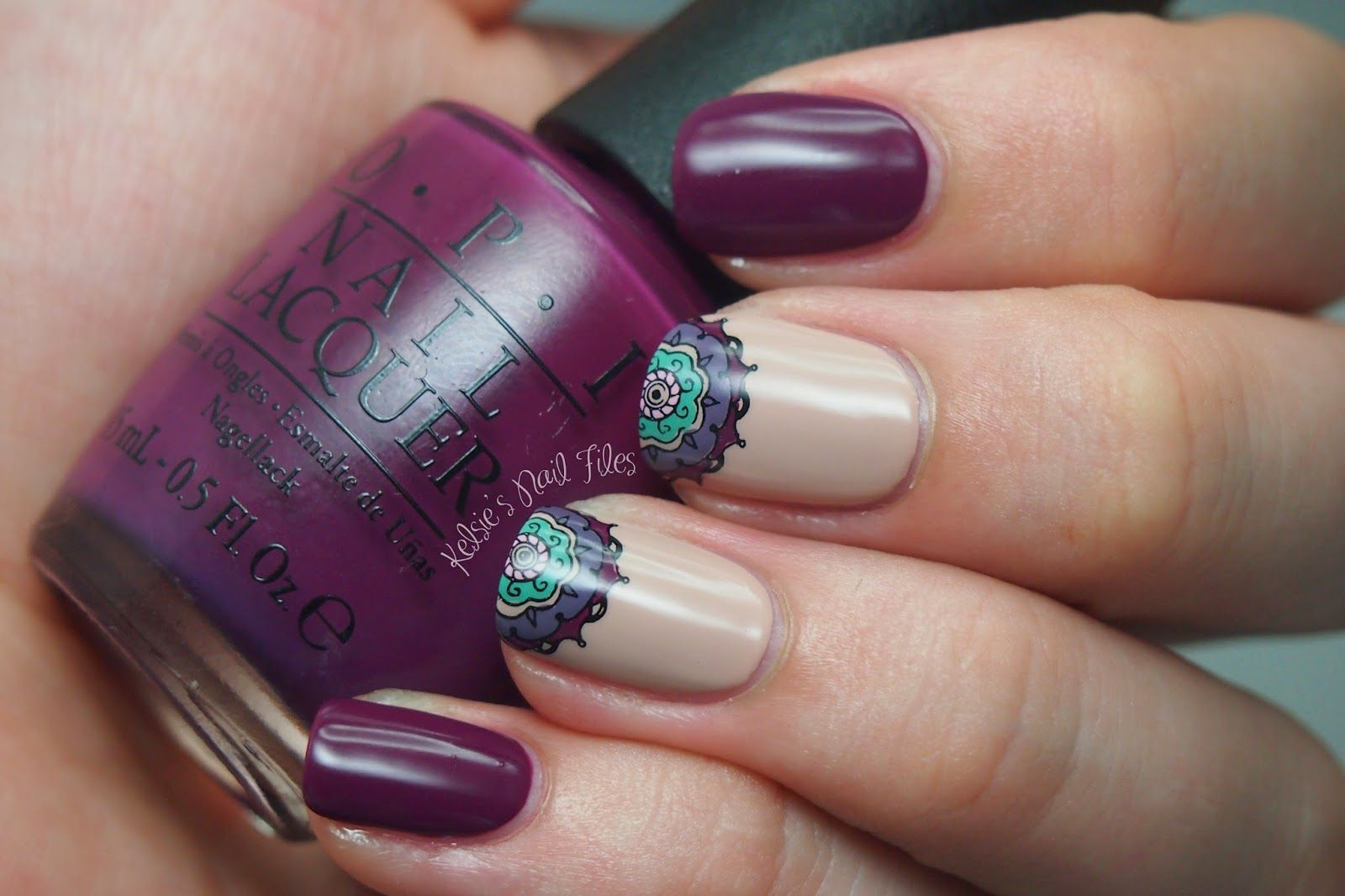 Kelsie\'s Nail Files: Reverse Stamping Mandala | nail art | Pinterest ...