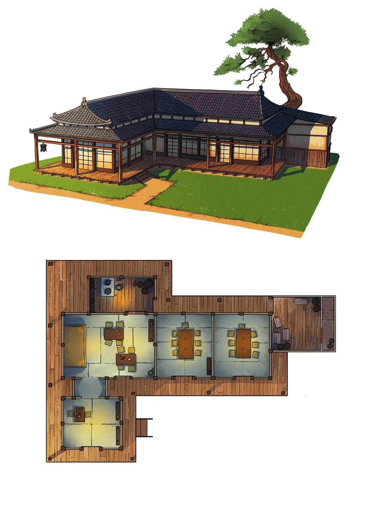 Fantasy Maps Guillaume Tavernier Maison Minecraft Architecture Minecraft Batiment Minecraft