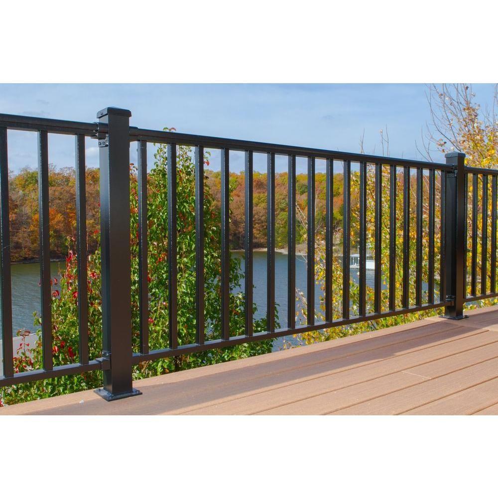 Best Ez Handrail 6 Ft X 36 In Textured Black Aluminum 400 x 300
